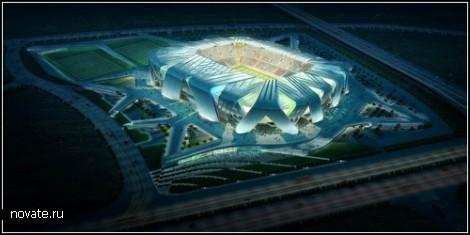 Новый стадион для Dalian Shide FC. Проект UNStudio