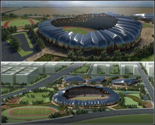 Проект Datong Sports Park для исторической части китайского города Датунг