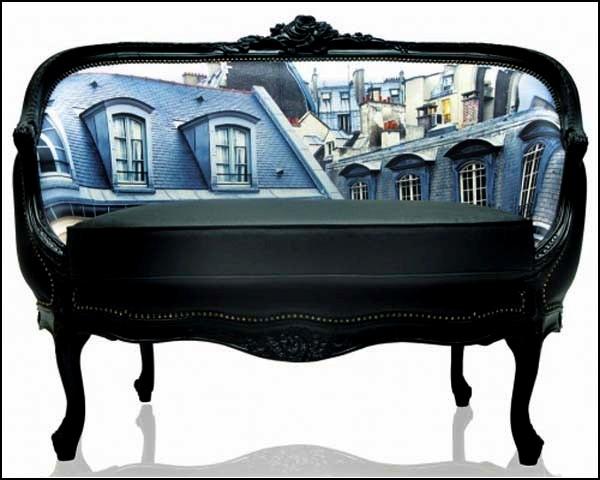Decorative Sofas, украшенные современными городскими пейзажами
