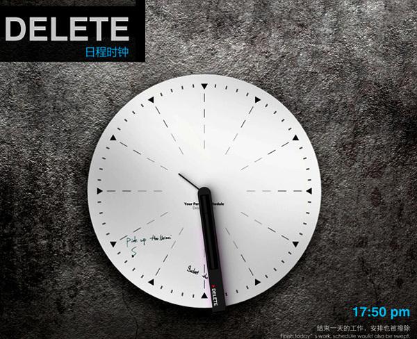 Delete Clock: концептуальные часы против прокрастинации