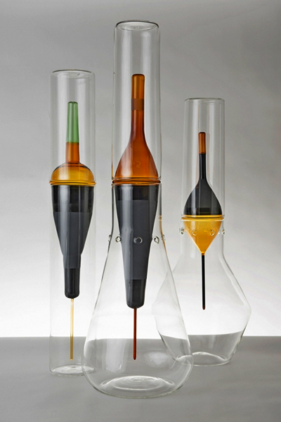 Deriva Glass Collection: стеклянные бокалы и графины с поплавком