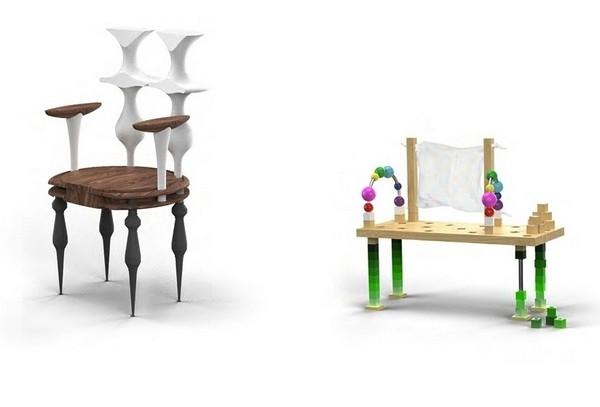 Стулья Lathing Chair и Children Chair из коллекции Design & Chaos
