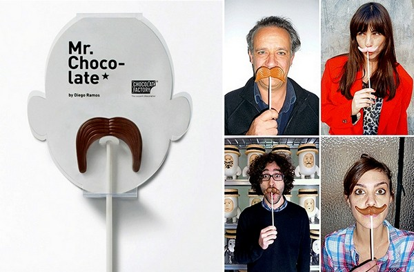 Mr.Chocolate Moustaches, серия шоколадных усов на палочке