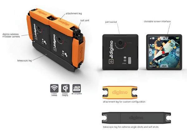 Digimo Camera, почти скрытая модульная фотокамера
