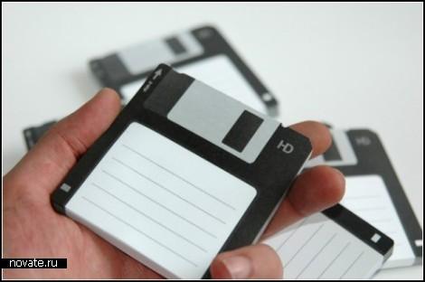 Дискеты для заметок. Стикеры Disk-it от Burak Kaynak