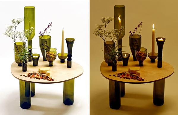 Divinus: мебель от Tati Guimaraes с ножками из пустых бутылок