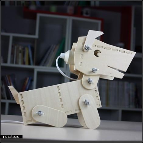 Настольно-офисный песик DIY Doggy Lamp