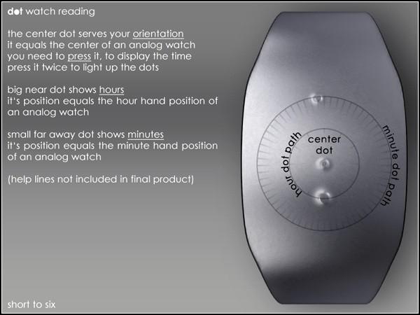 Dot watch, наручные часы с двумя точками вместо стрелок