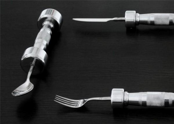 Проект Eat Fit: столовые приборы для фитнесса