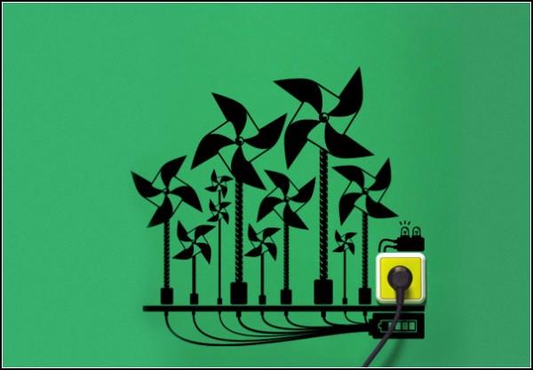 Eco Reminders, наклейки для розеток и выключателей с экологическим уклоном