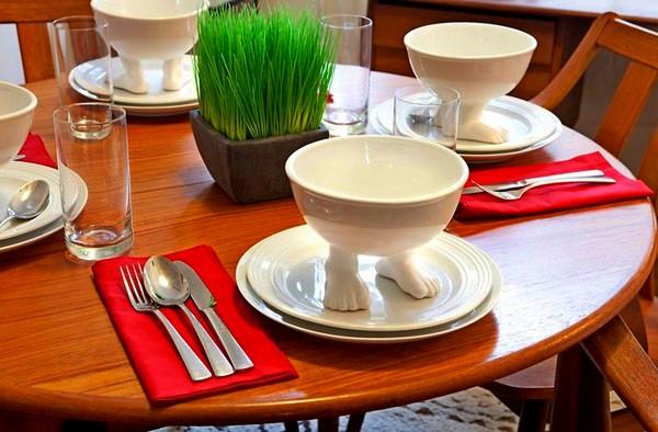The Efeet Collection, посуда на керамических ножках