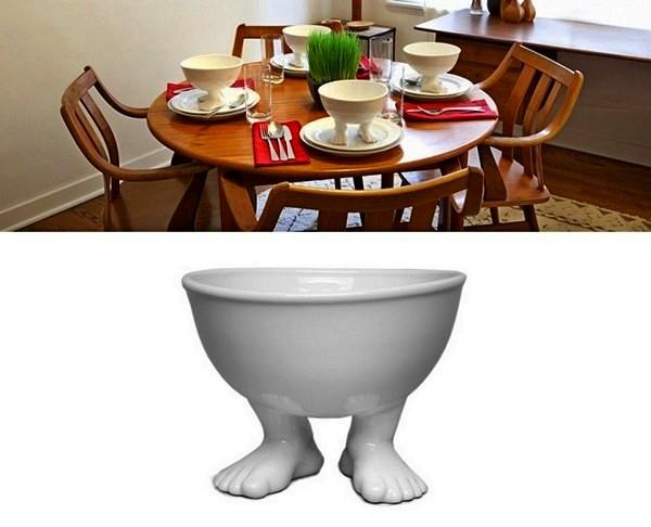 The Efeet Collection, посуда с пухлыми ножками