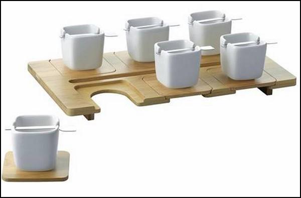 Квадратные чашечки, квадратные блюдечки, квадратные ложечки от Fellina Sok-Cham