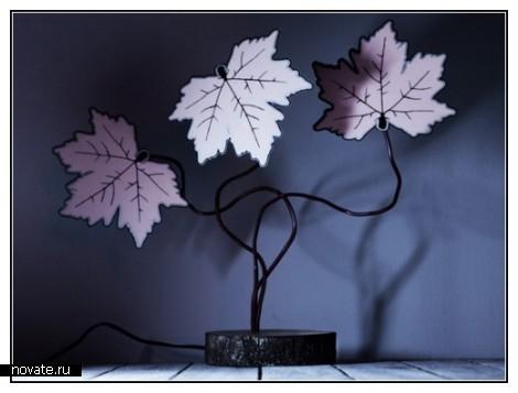 Кленовый светильник-инсталляция Etree leaves