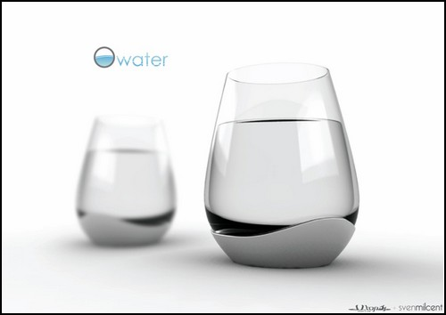 Четыре - и вот стакан для минералки