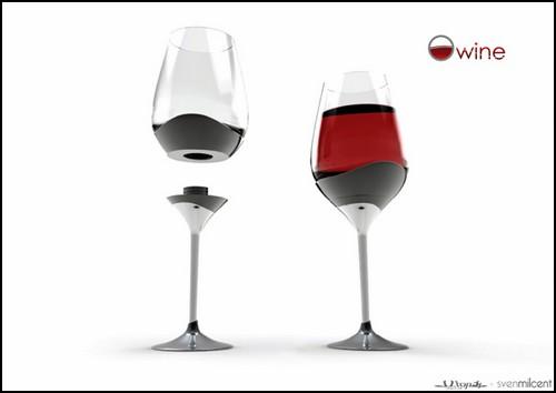 Раз - и бокал для вина