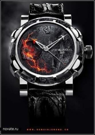 Уникальные часы с пеплом вулкана Eyjafjallajokull