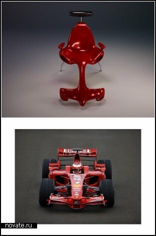 *Кресло-автомобиль* F1 Lounge от дизайнера Александра Криштоффа (Alexander Christoff)