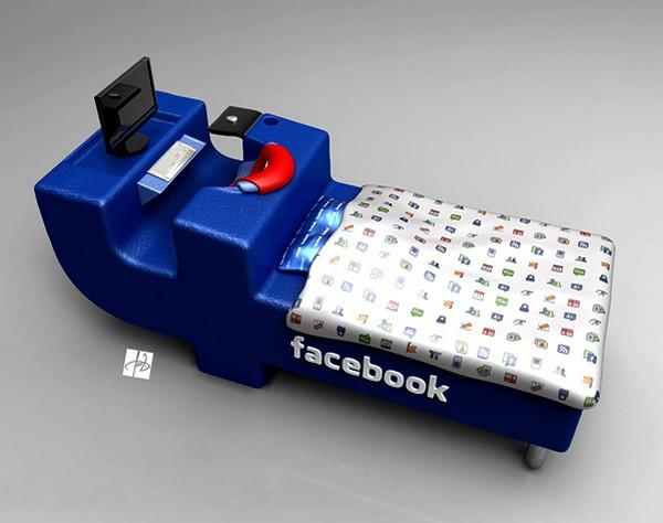 Концептуальная facebook-кровать FBed concept от Tomislav Zvonariс