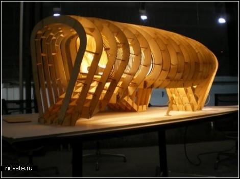 Проект деревянного эко-здания Fablab House