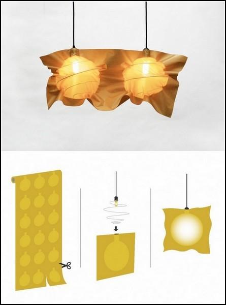 Fabricate Lights. Лампы в тканевых пакетах-абажурах