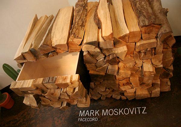 Комод-поленница Facecord Cabinet от Mark Moskovitz