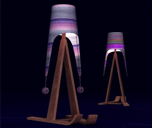 Торшер *Федор* (Fedor standard-lamp), модный лыжник от  Олеси Смирновой