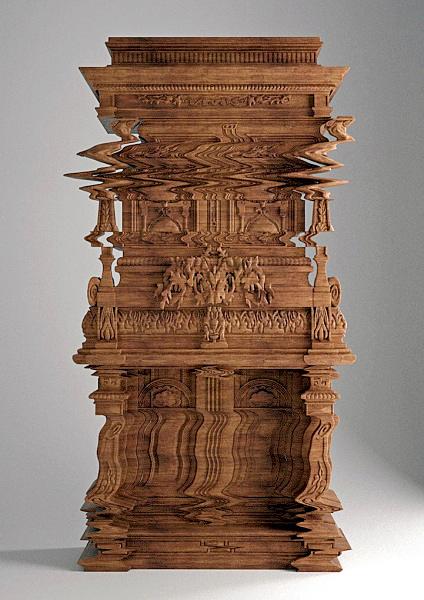 Good Vibrations Cabinet: необычный комод ручной работы от Ferruccio Laviani