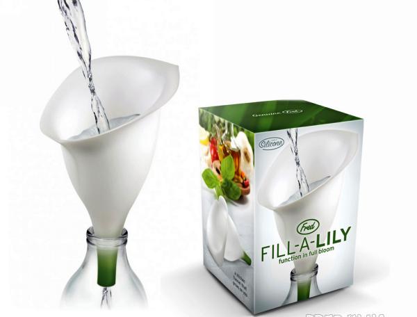 FILL-a-LILY Funnel: милая кухонная воронка в виде лилии