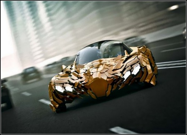 Чешуйчатый концепт-кар Flake, автомобиль будущего