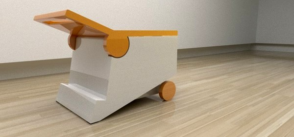 Стульчик и столик Flippo chair от Paulo Corceiro