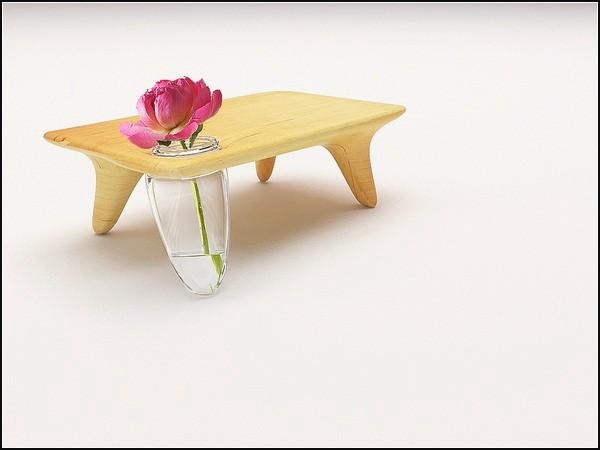 Flo table, столик с ножкой в виде вазы
