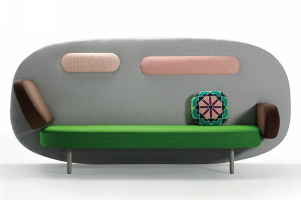 Яркие модные диваны от Карима Рашида, серия Float Sofa