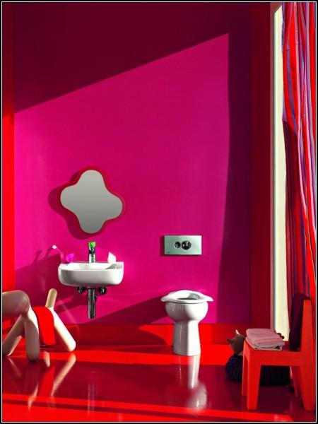 Позитивный интерьер ванной комнаты