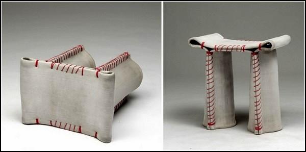 Stitching Concrete Stool от Флориана Шмидта (Florian Schmid)