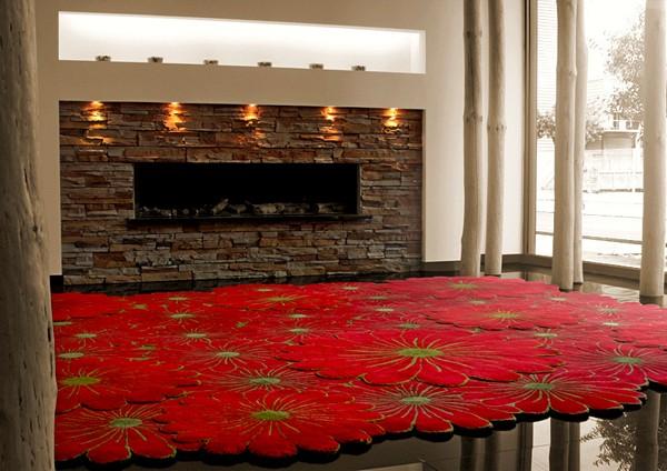Слоеный ковер Flower Motif Rugs - цветочная поляна под ногами