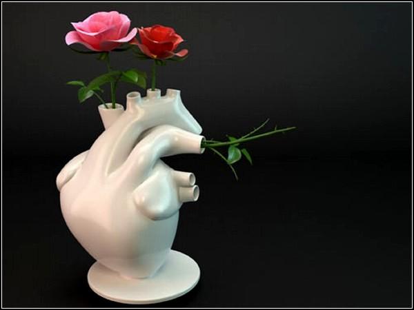 Сердечный букет в вазе Flower Pump vase