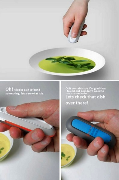 Если гаджет светится зеленым, значит, еда абсолютно безопасна