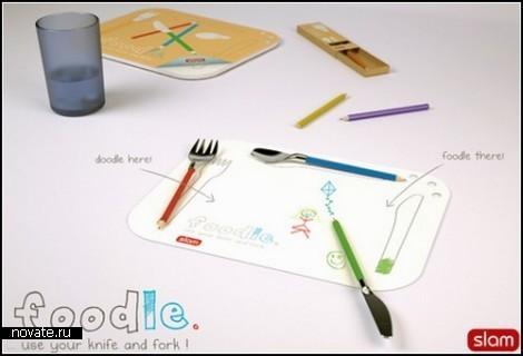 Креативный набор детских столовых приборов Foodle