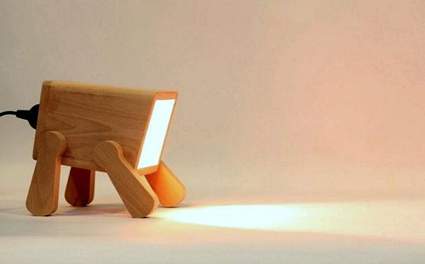 Смешной мини-светильник Frank Lamp в виде *настольного песика*