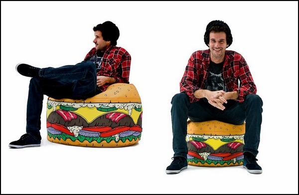 Аппетитное кресло-мешок для любителей фаст-фуда