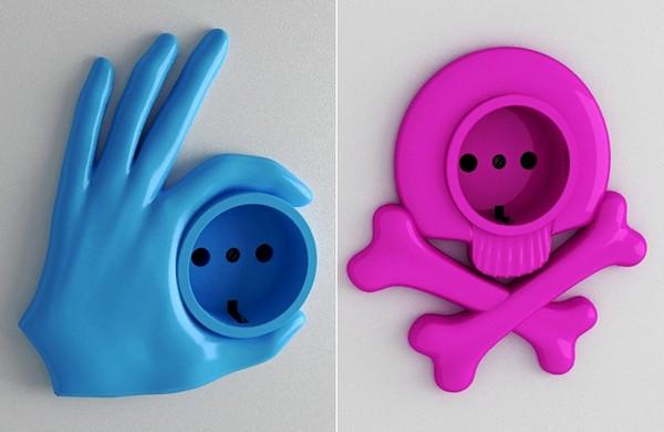 Funny sockets, необычный дизайн для обычных розеток
