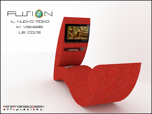 Кресло-гибрид Fusion Chair с телевизором и DVD