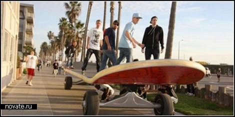 Гигантский скейтборд-чемпион от компании California Skateparks