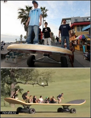 Гигантский скейтборд-чемпион от компании California Skateparks