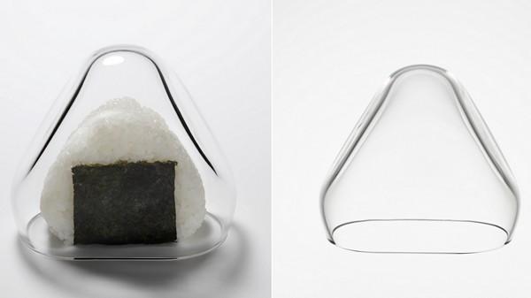 Yum Yum Covers. Стеклянная крышка для рисового шарика онигири