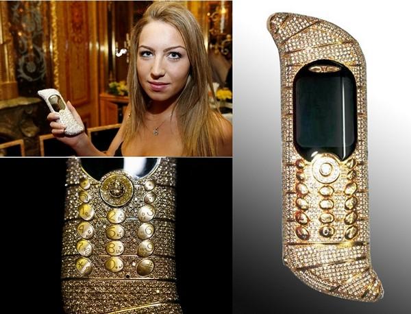 Самый дорогой телефон-рекордсмен GoldVish Le Million