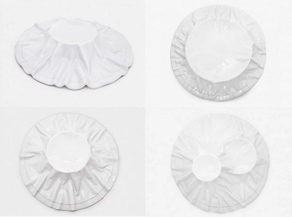 Тарелки с драпировкой из коллекции Tecido Platter