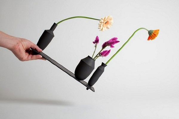 Чрезвычайно устойчивые магнитные вазы из серии Tangent