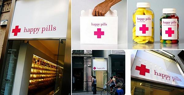Достопримечательность Барселоны: конфетная лавка Happy Pill, напоминающая аптеку